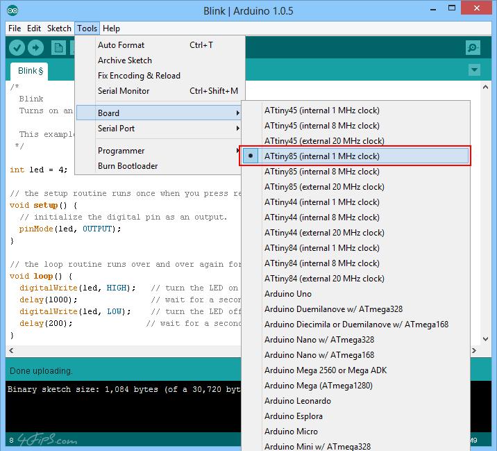 Arduino blink sketch download