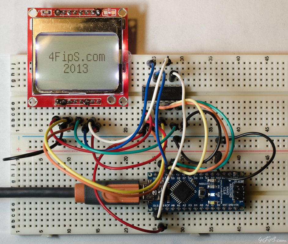 Connecting Nokia 5110 LCD (Philips PCD8544) to Arduino Nano